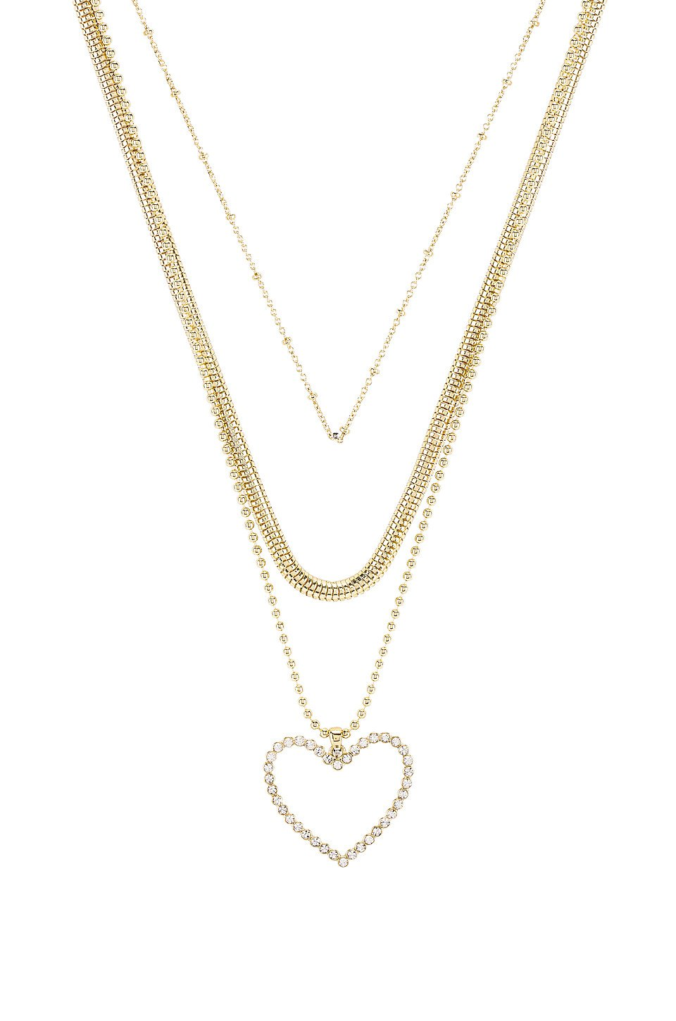 The Studded Hearts Charm Necklace