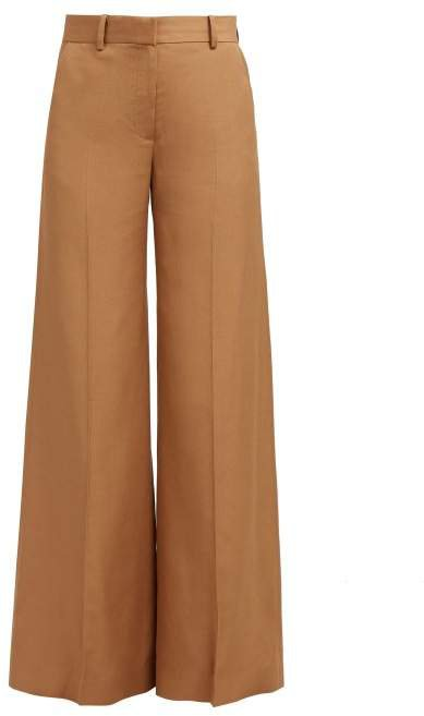 Bianca Wide Leg Trousers - Womens - Camel