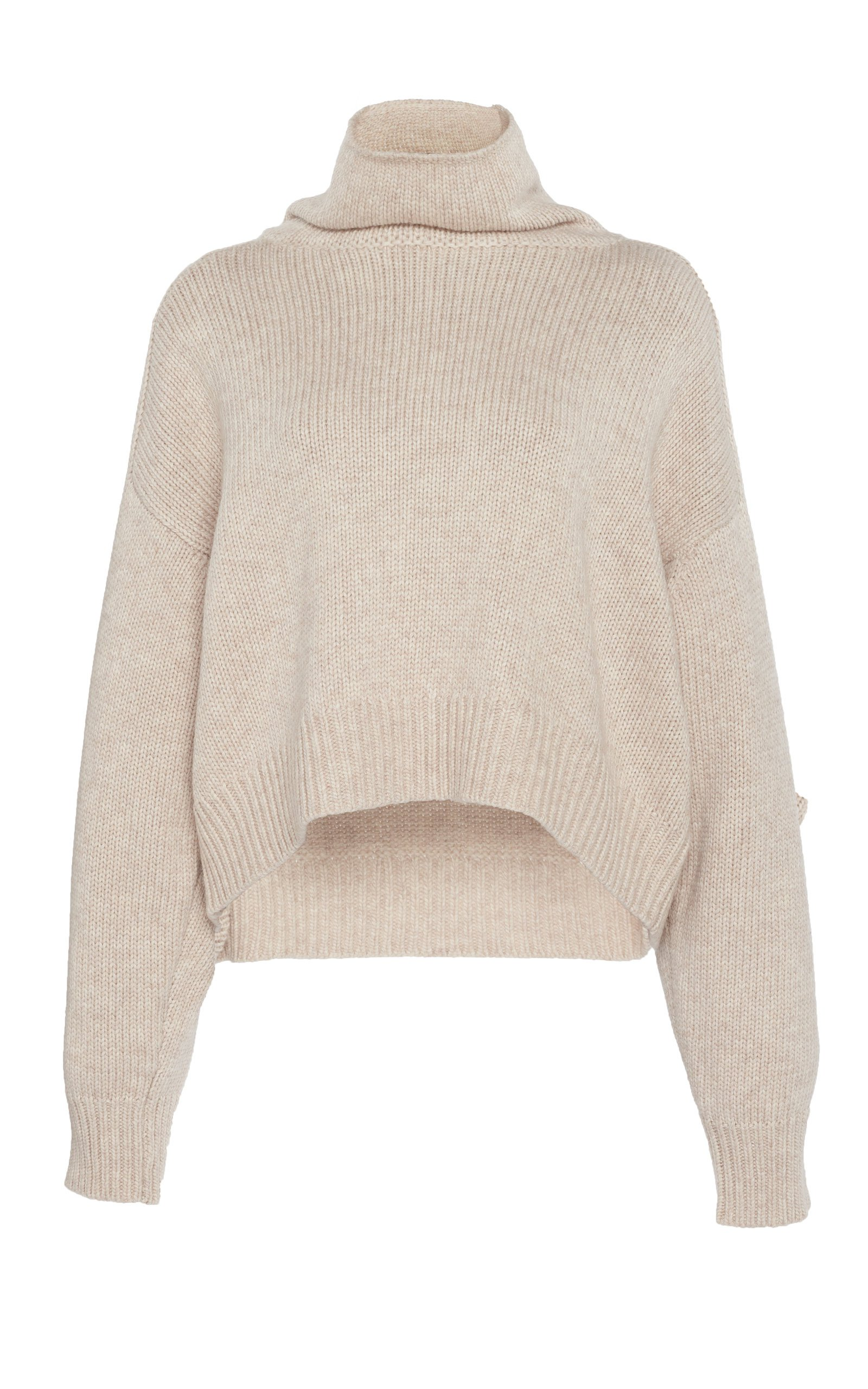 Loulou Studio Procida Wool-Blend Turtleneck Sweater Size: M