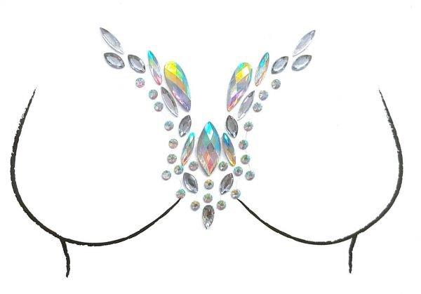 Gems Stickers Breast Body Jewelry Stickers Crystal Nipple Tattoo Stickers for Festival Rhinestone Decorations | Souq - UAE