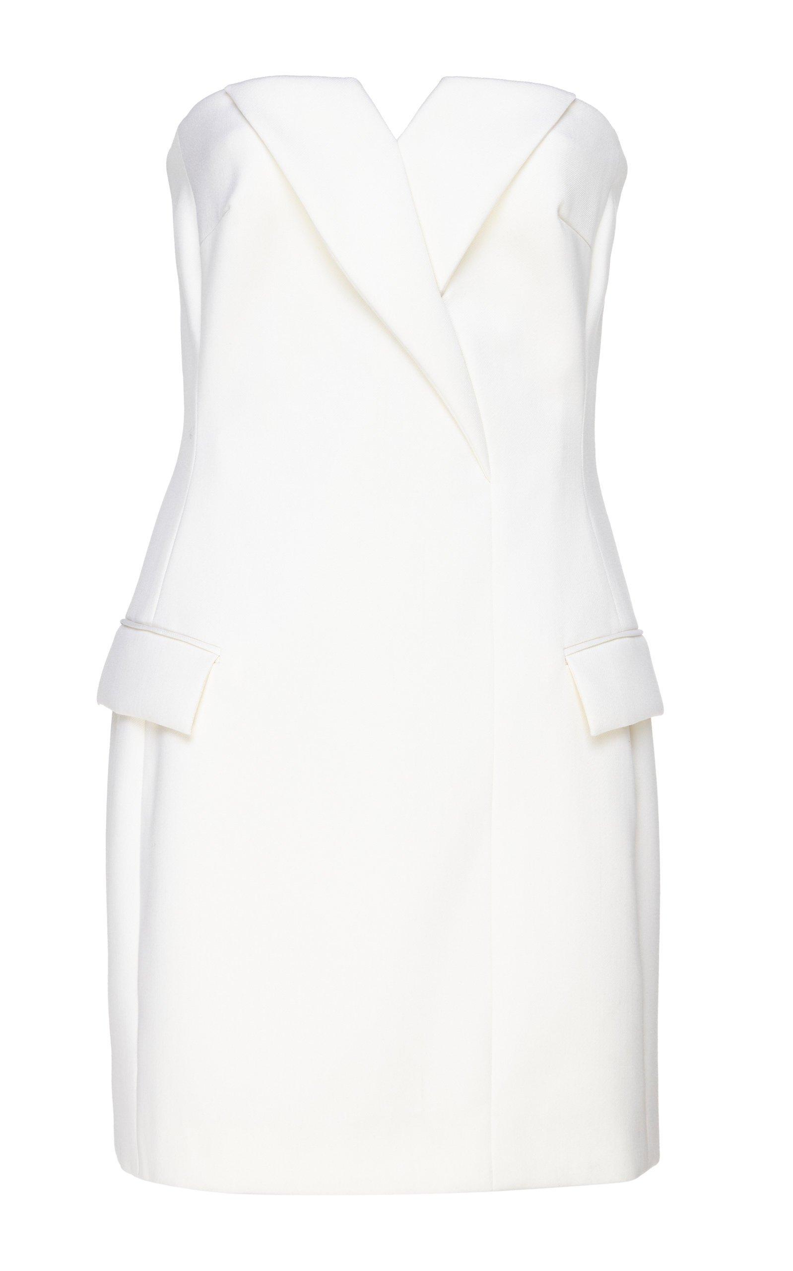David Koma Tuxedo Strapless Mini Dress
