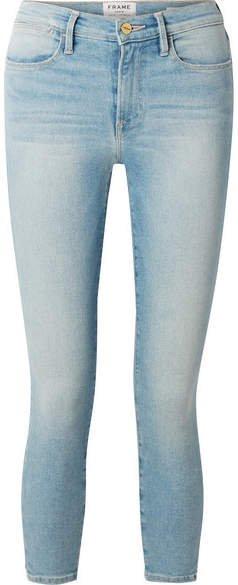 Le High Cropped Skinny Jeans - Light denim
