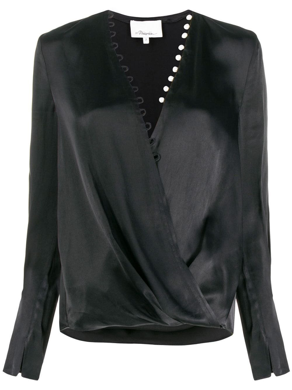 Black 3.1 Phillip Lim Pearl Embellished Blouse | Farfetch.com