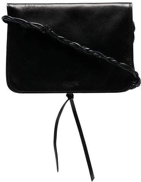 black Tangle leather shoulder bag