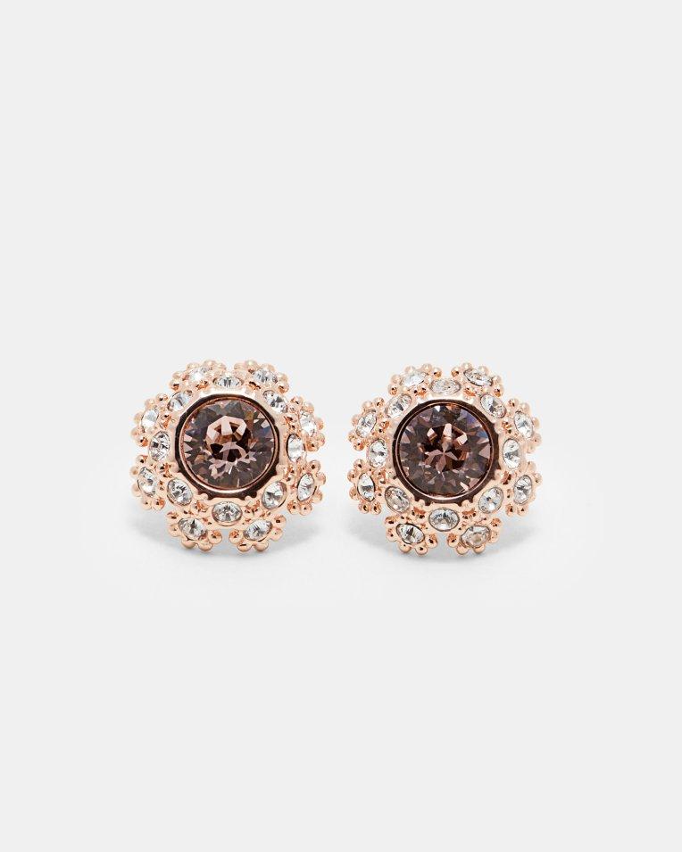 Swarovski® daisy lace earrings - Pink   Jewellery   Ted Baker UK