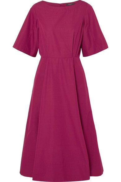 Derek Lam | Cutout cotton-taffeta midi dress | NET-A-PORTER.COM