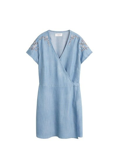 Violeta BY MANGO Embroidered soft dress