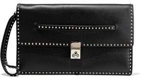 Garavani Studded Leather Clutch