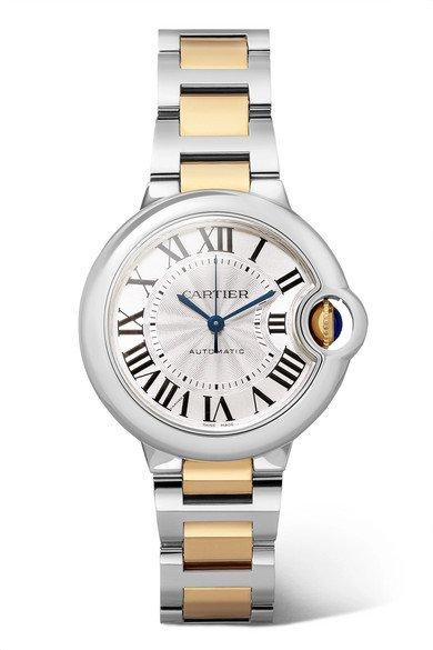 Cartier   Ballon Bleu de Cartier 33mm 18-karat gold and stainless steel watch   NET-A-PORTER.COM