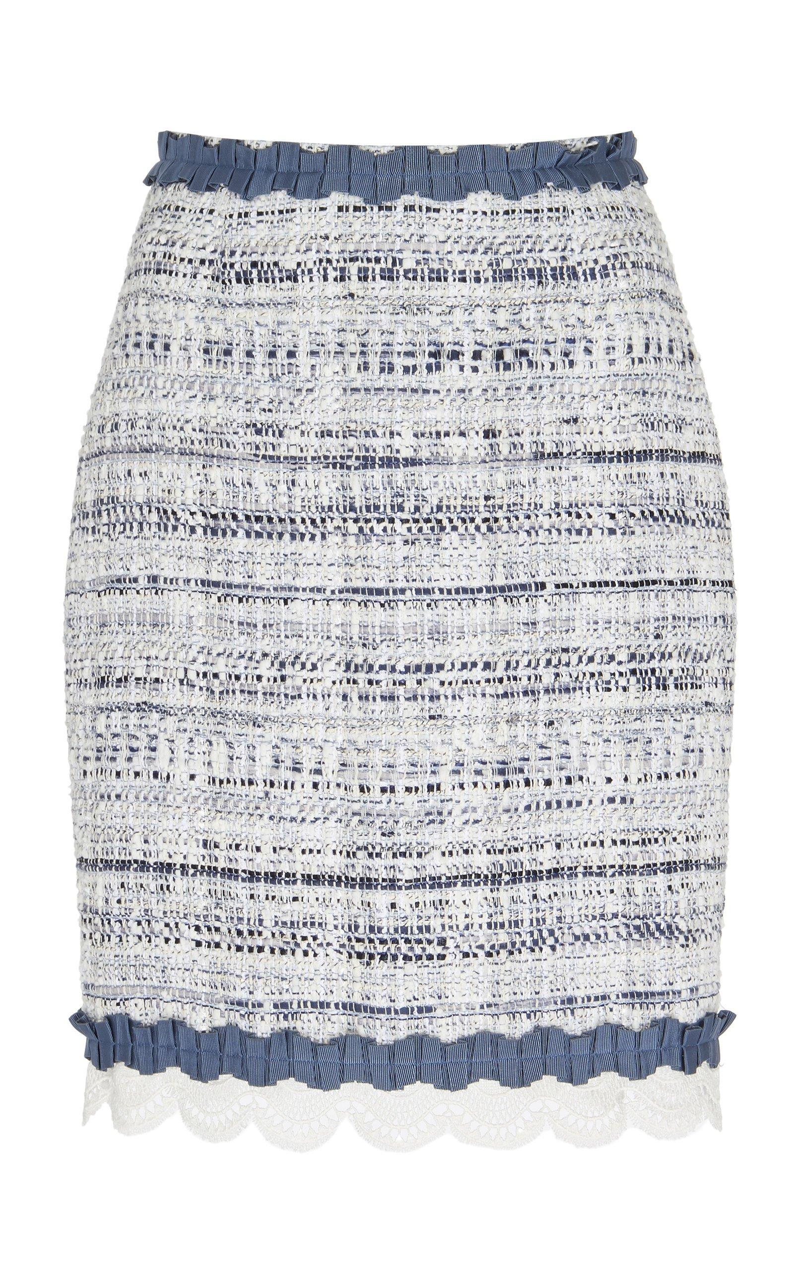 Zuhair Murad Asturias Tweed Pencil Skirt