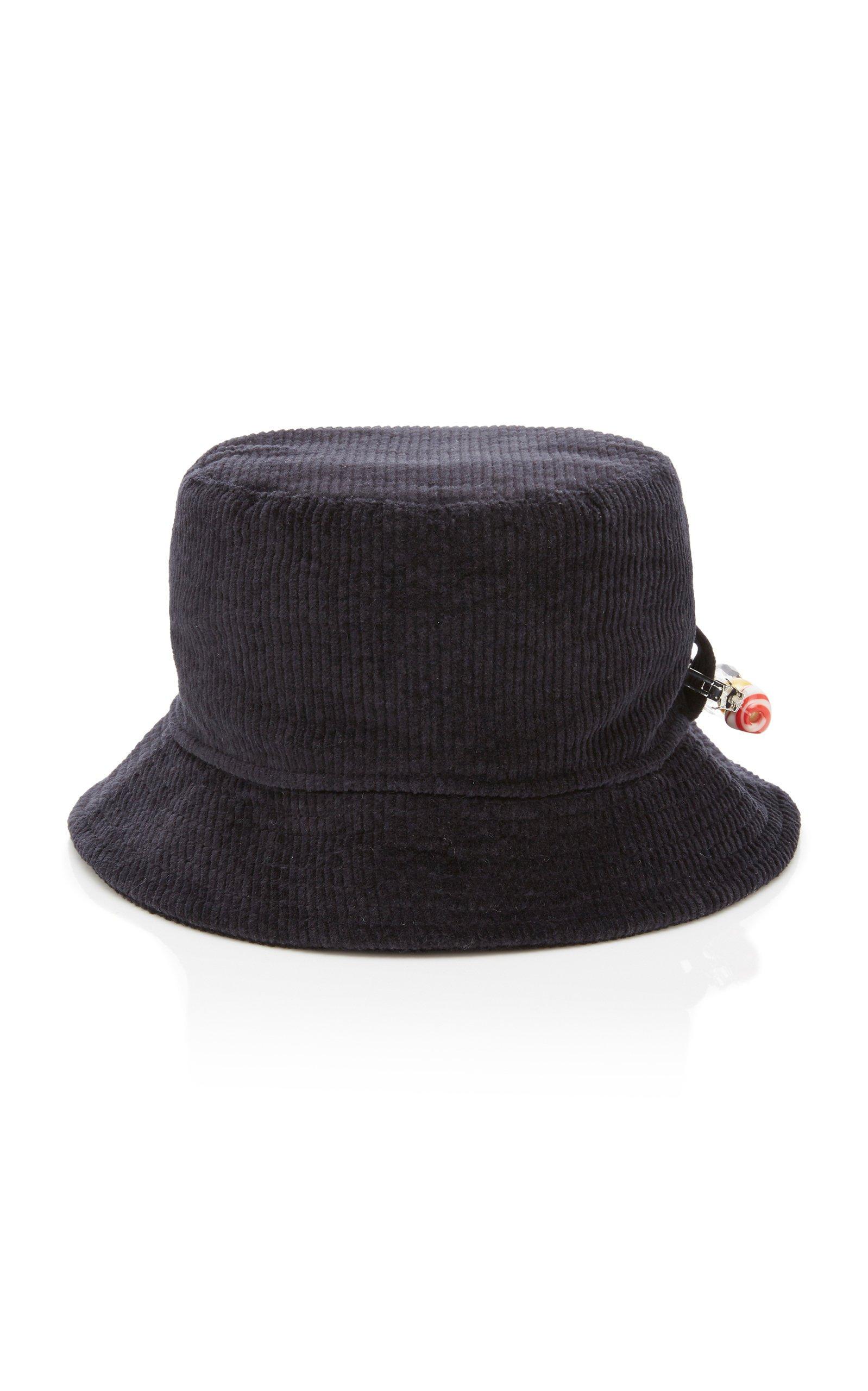 Federica Moretti Corduroy Bucket Hat Size: L
