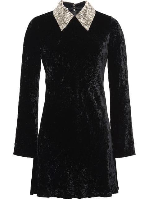 Miu Miu velvet mini dress