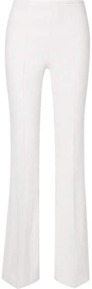 Crepe Flared Pants - White