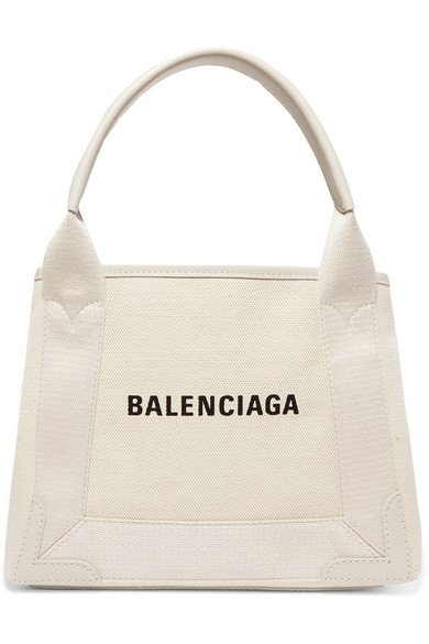 Balenciaga   Cabas XS AJ leather-trimmed printed canvas tote   NET-A-PORTER.COM