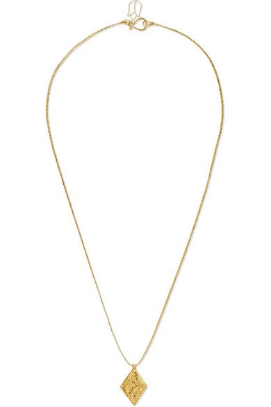 Pippa Small   18-karat gold and cord necklace   NET-A-PORTER.COM