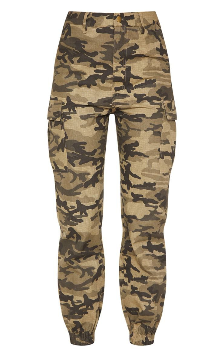 Orange Camo Pocket Detail Cargo Pants | PrettyLittleThing USA