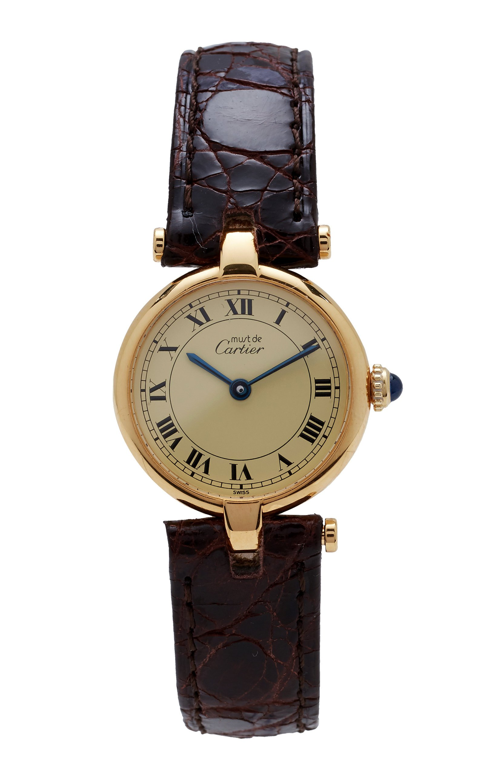 Vintage Watches Cartier Vendome with Cream Roman Dial