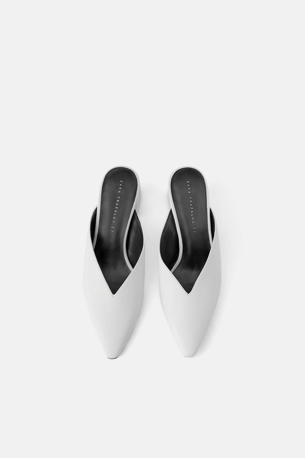 Tacón Mujer Zapatos Zara Mule Escote sQxhrdCt