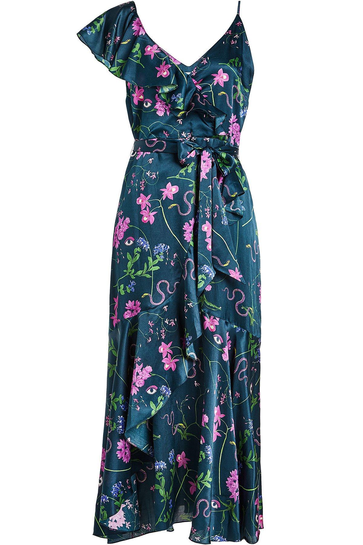 Floral Print Wrap Dress Gr. UK 6