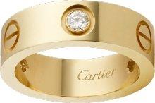 CRB4032400 - LOVE ring, 3 diamonds - Yellow gold, diamonds - Cartier