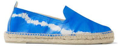 Tie-dyed Leather Espadrilles - Blue