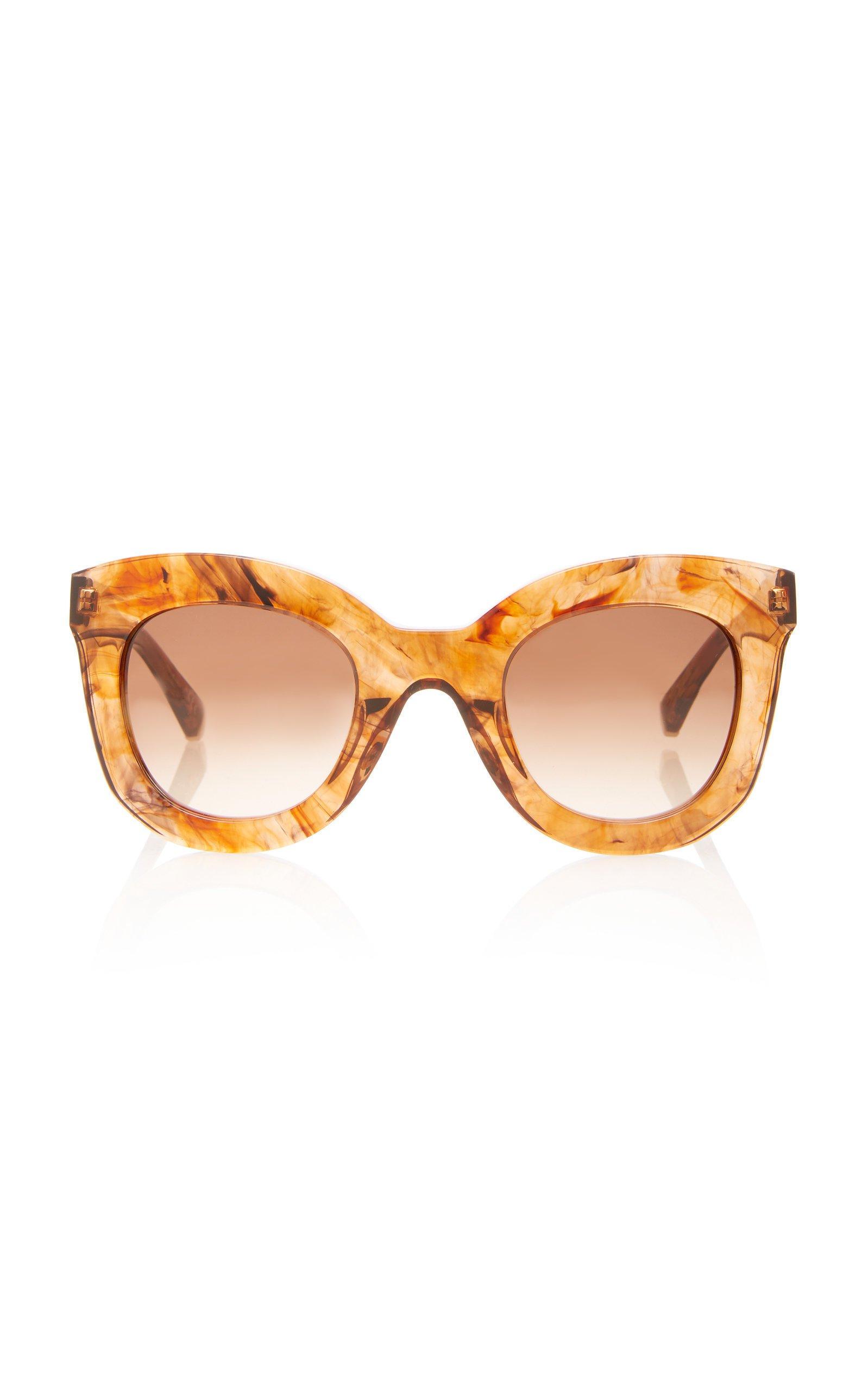 Kate Young Rosalba Cat-Eye Acetate Sunglasses