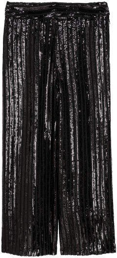 Sequined Culottes - Black