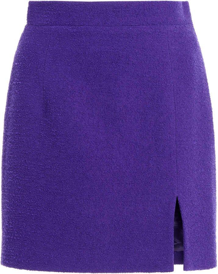 Alessandra Rich Tweed Mini Skirt With Side Split