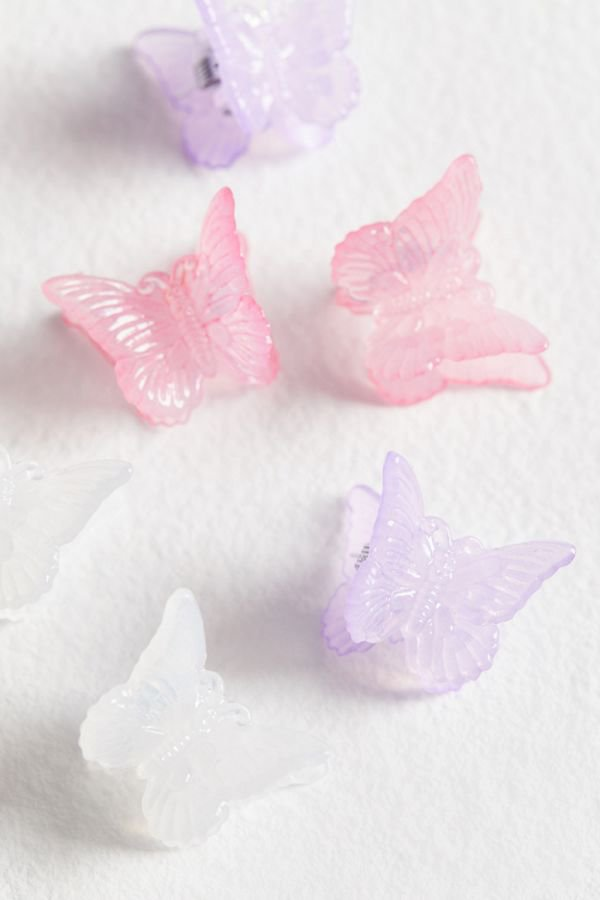 Butterfly Hair Clip Set   Urban Outfitters