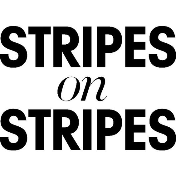 stripes text