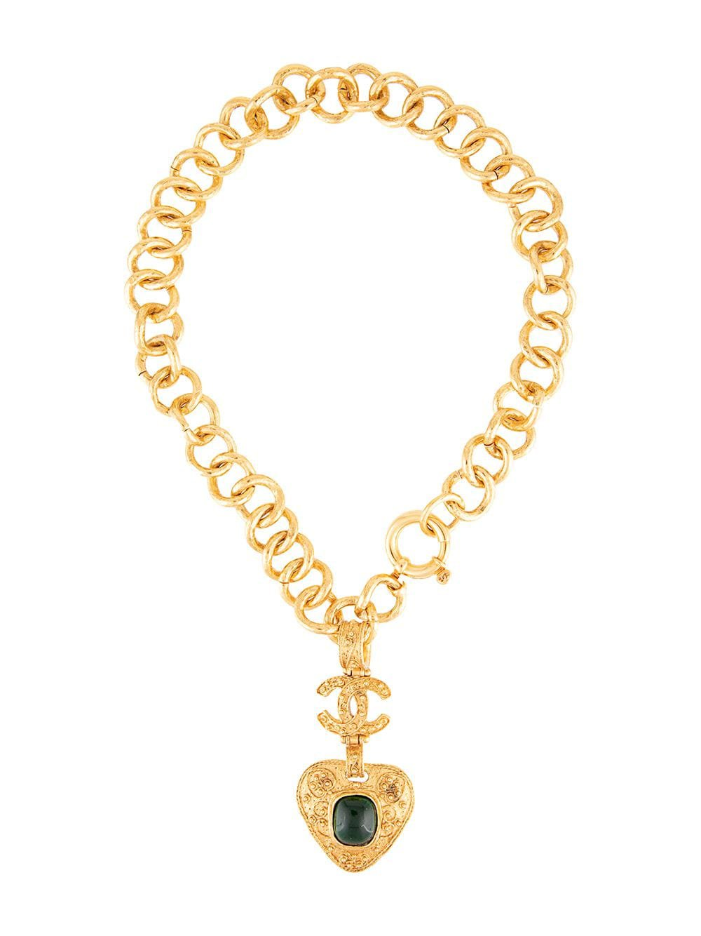 Chanel Vintage Triangle Gripoix Necklace - Farfetch
