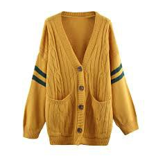 Wholesale Shinybling Casual Long Sleeve Striped Knitted Coats Single