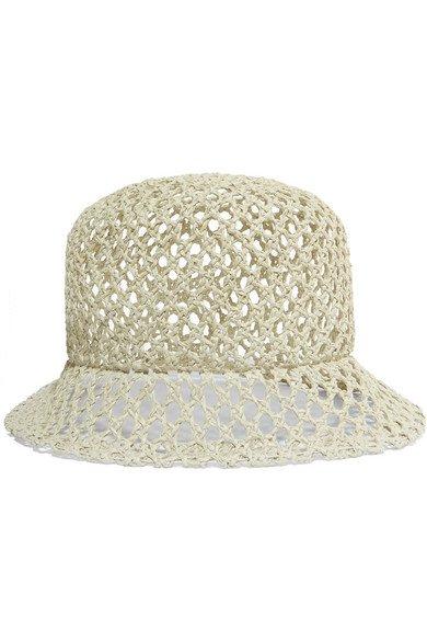 CLYDE   Woven straw batta hat   NET-A-PORTER.COM