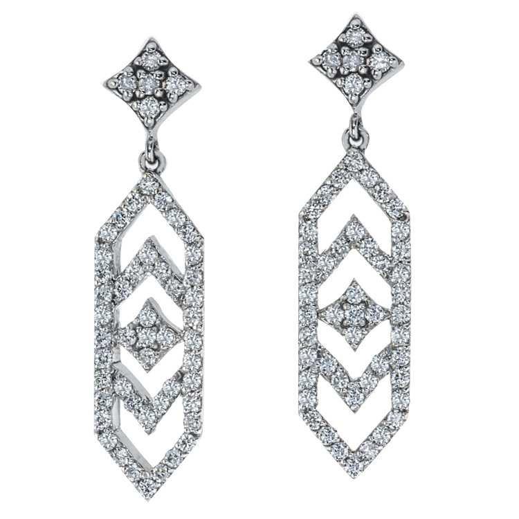 Gianna Dangle Earrings with Diamonds - GiGi Ferranti Jewelry