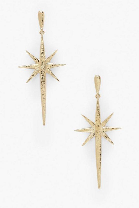 Star Burst Drop Earrings | Boohoo