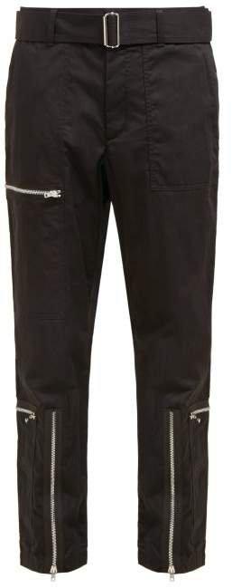 Flight Cotton Blend Twill Trousers - Womens - Black