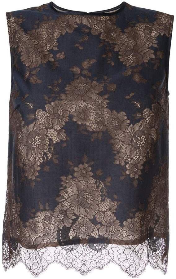 Loveless sleeveless lace top