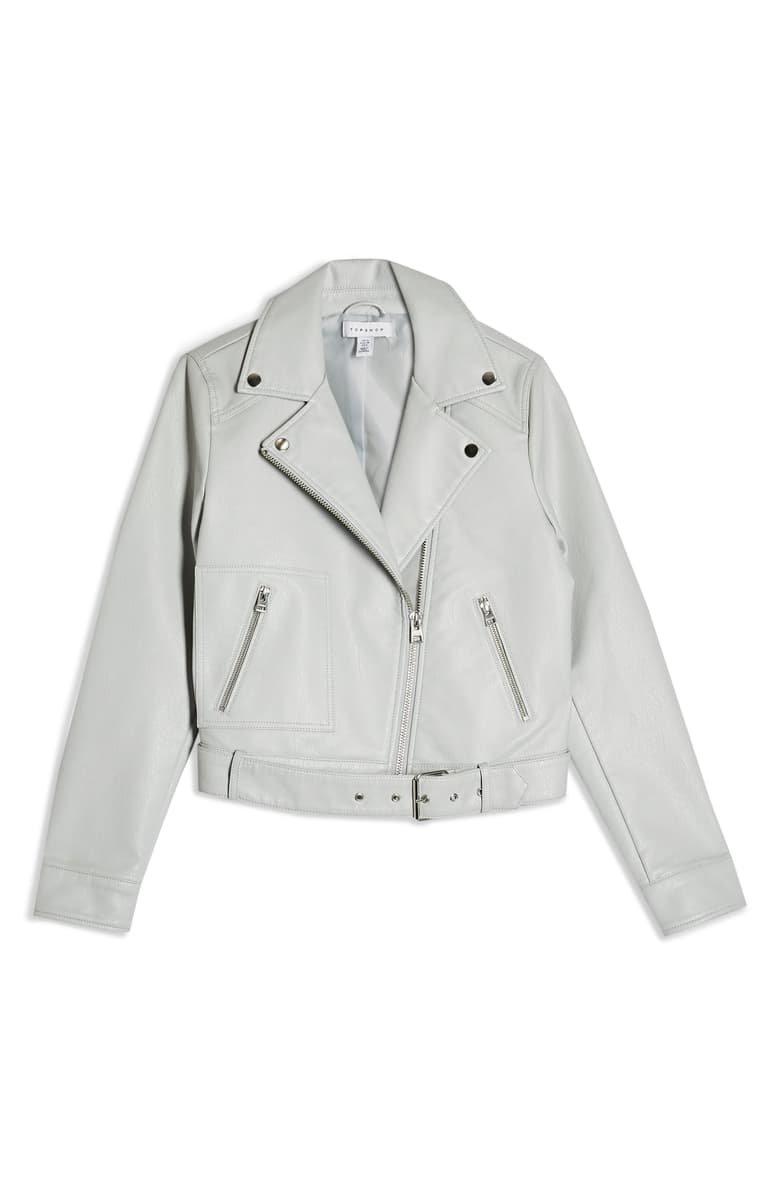 Topshop Kota Crop Faux Leather Jacket | Nordstrom