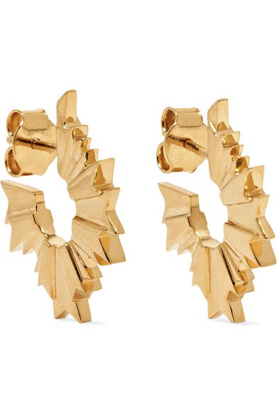 Meadowlark | August gold-plated earrings | NET-A-PORTER.COM