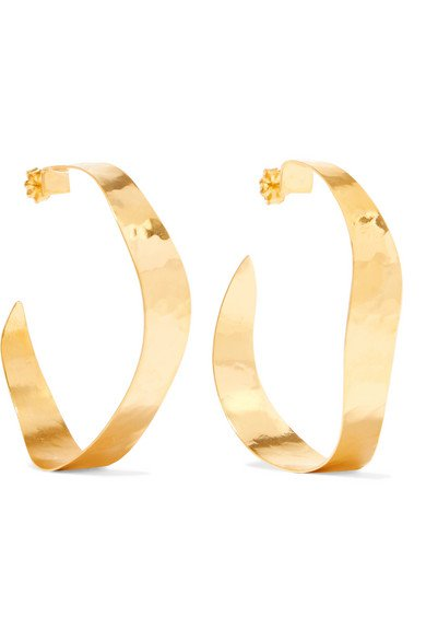 Chan Luu | Gold-plated hoop earrings | NET-A-PORTER.COM