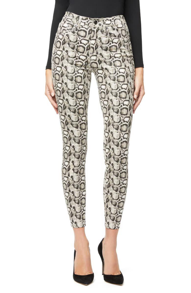 Good American Good Legs Snake Print High Waist Skinny Jeans (Snake 001) (Regular & Plus Size)   Nordstrom