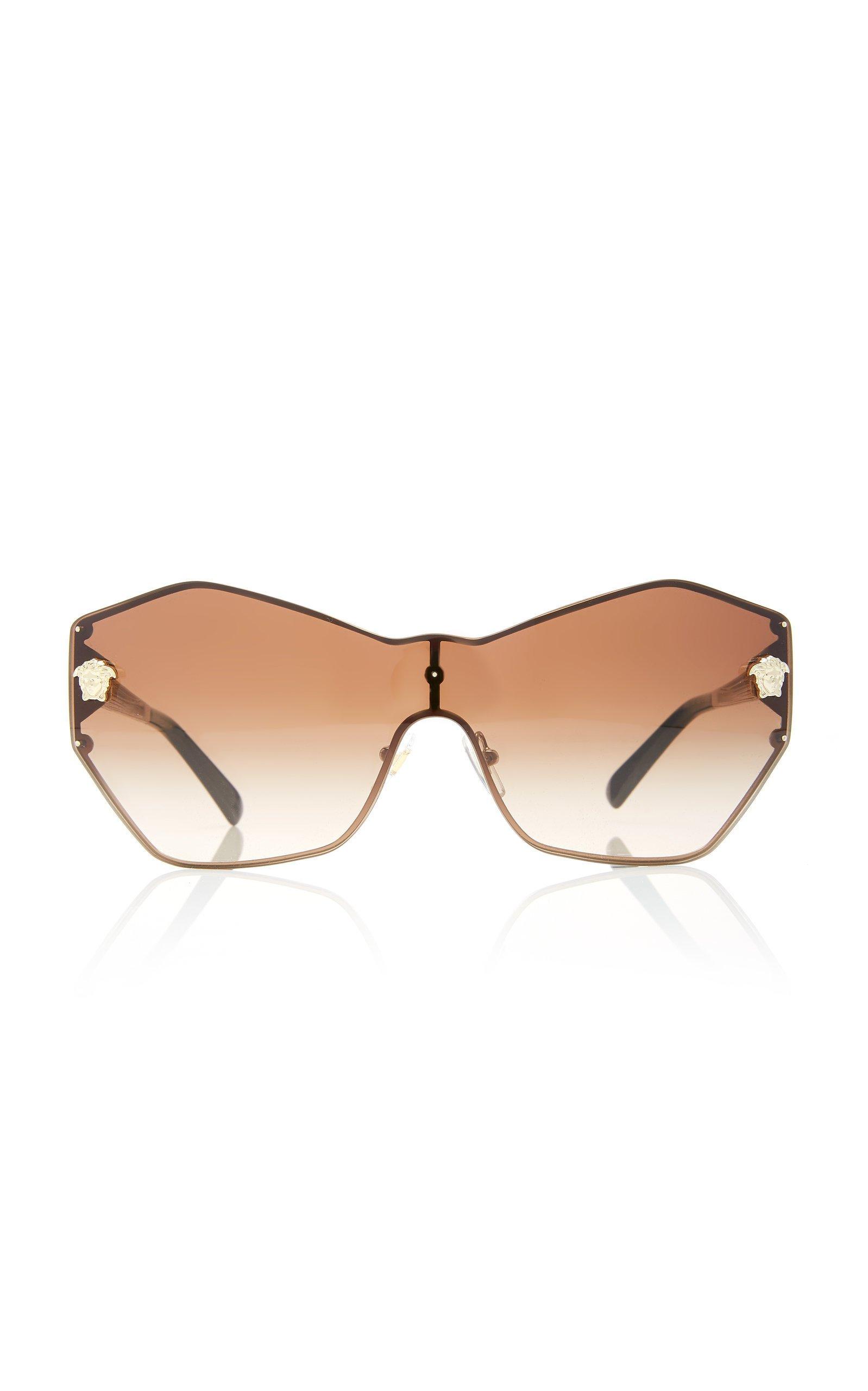 Versace Sunglasses Hexagon-Frame Metal Sunglasses