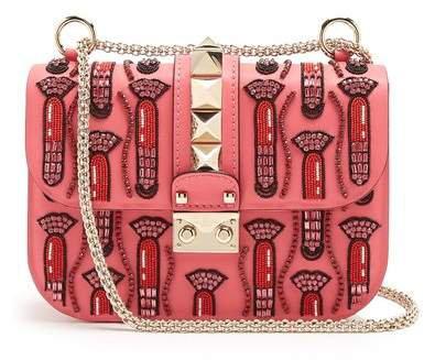X Zandra Rhodes Lock Small Leather Shoulder Bag - Womens - Pink Multi