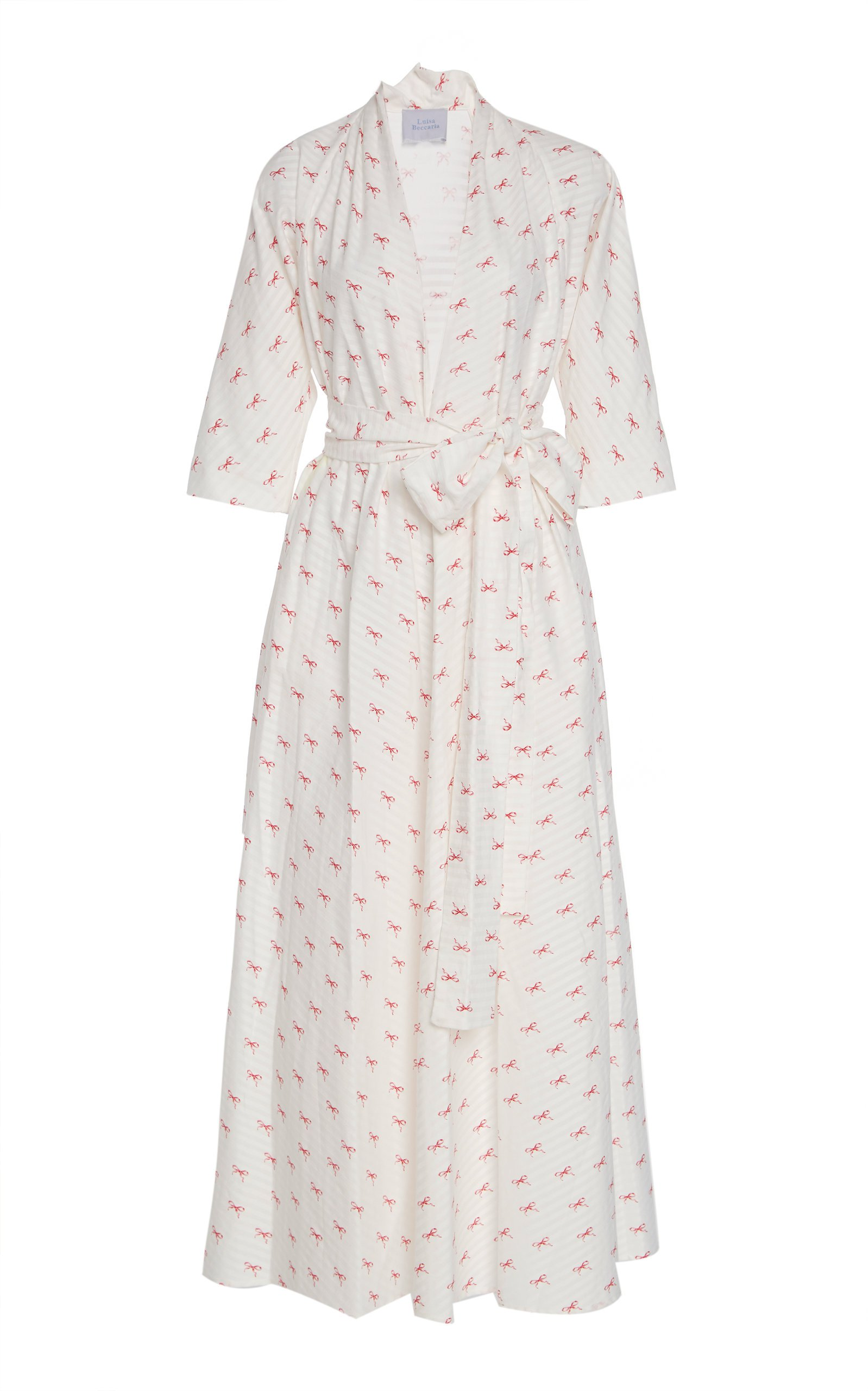 Luisa Beccaria Printed Cotton Midi Dress