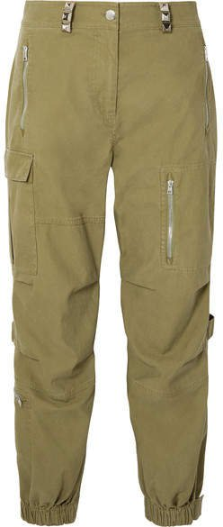 Cotton Cargo Pants - Army green