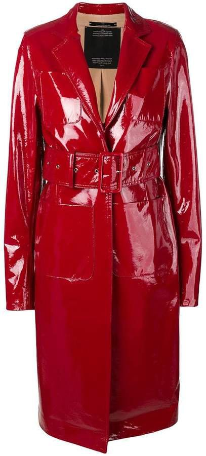 Rokh lacquered structured trenchcoat
