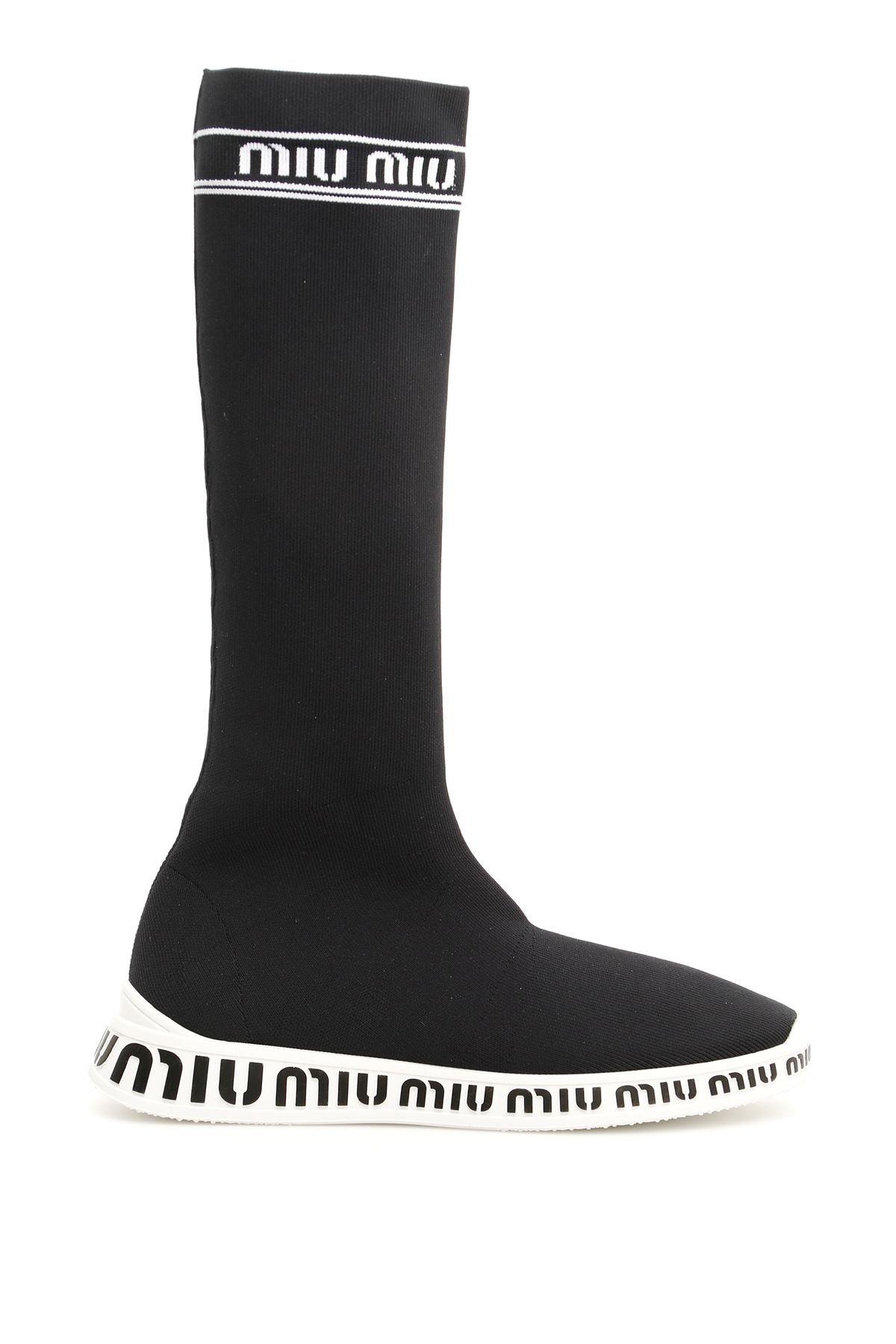Miu Miu Logo Boots