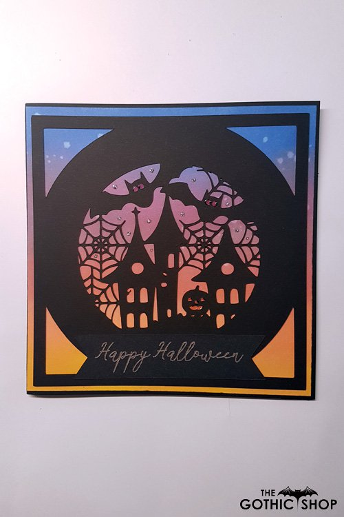 Halloween Globe Papercut Gothic Card | Gifts & ware | Cards