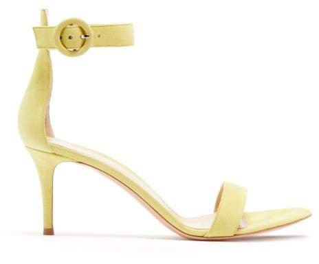 Portofino 70 Suede Sandals - Womens - Yellow