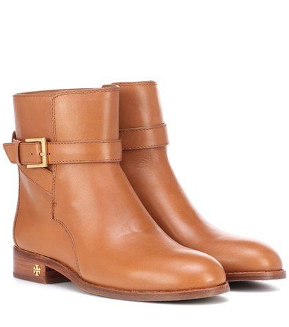 Brooke leather ankle boots